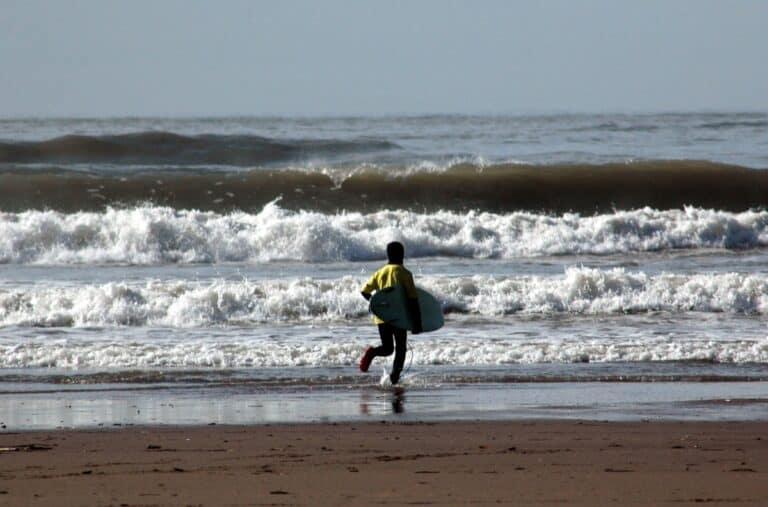 Surfing at Bantham Beach